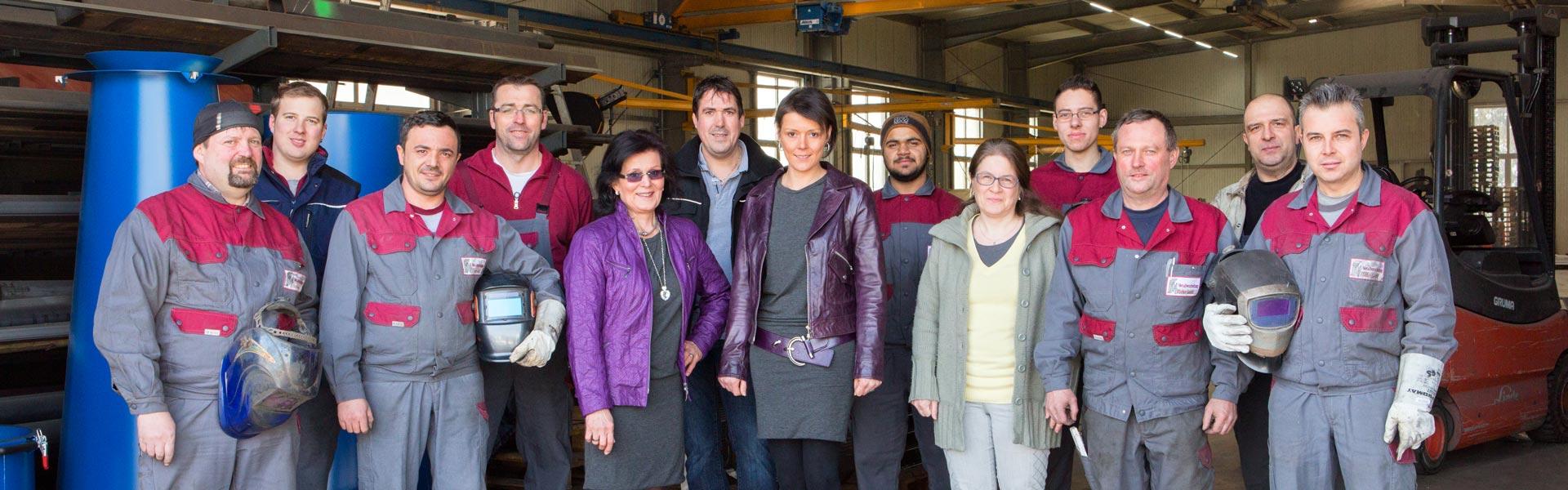 Team von Metallverarbeitung Fischer in Balzhausen